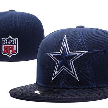 Dallas Cowboys New Era 59FIFTY NFL Football Hat Blue-White