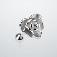Rose of Steel Tragus Barbell