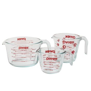 Day-First™ 3-Piece Glass Measuring Cup Set