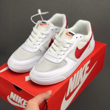HCXX 19July 626 Nike BLAZER LOW Mesh Breathable Retro Board Shoes white red