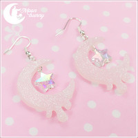 Melty moon Earrings