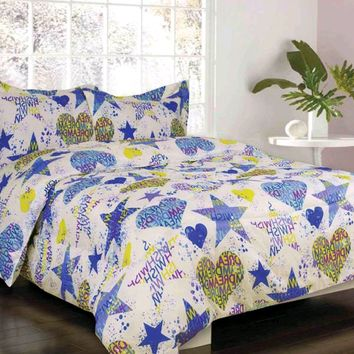 Sydney Lime Green/ Blue/ Purple Bed Set