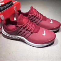 NIKE Air Presto Woman Genuine leather Running Sneakers Sport Shoes