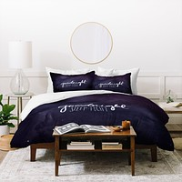 Leah Flores Goodnight Duvet Cover