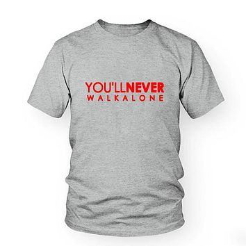 You'll Never Walk Alone T-shirt liverpool For fans all champions 2018 fashion men's brand clothing Male S-3XL T shirt