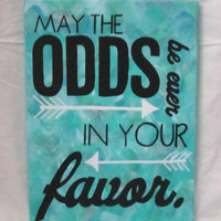 Teal Hunger Games Painting