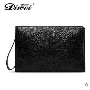 diwei 2017 new hot free shipping crocodile leather carrying large capacity coach men purses male traveler bag men bag clutches