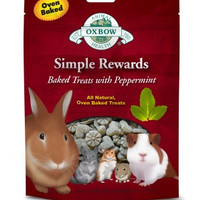Oxbow Simple Rewards Baked Peppermint Small Pet Treat 2oz