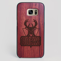 Milwaukee Bucks Galaxy S7 Edge Case - All Wood Everything