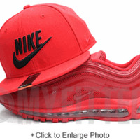 Nike True Sport Red Midnight Black One Size Dri-Fit Snapback Hat - On Myfitteds.com