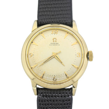 1950's Vintage Original Omega Bumper Automatic Gold Filled 34mm Watch