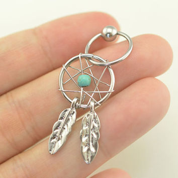 cartilage earring,cartilage hoop earring,dream catcher earring