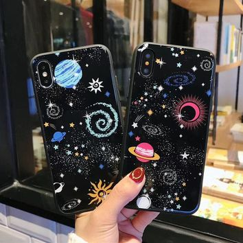 Glossy Space Planet Stars Phone Case