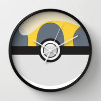 Ultra Pokeball Wall Clock by Pi Design Prints