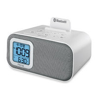 iHome® Bluetooth Bedside Dual Alarm Clock with USB Charging and Line-In - Silver