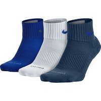 Nike 3-pack Dri-FIT Half-Cushion Quarter Socks - Men, Size: 8-12 (Blue)