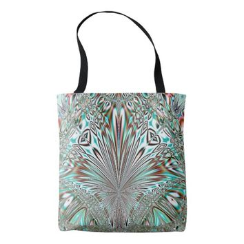 abstract crystal design tote bag