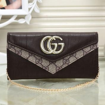 Gucci Women Shopping Leather Chain Satchel Shoulder Bag Crossbody