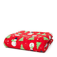 Home Accents® Snowman Print Microplush Throw - Belk.com