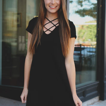 Strings Attached Tunic - Black
