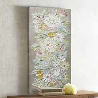 Blooming Flowers Mosaic Wall Panel