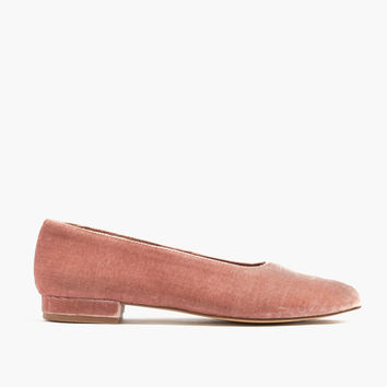 The Leia Ballet Flat in Velvet