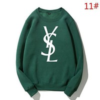 YSL Autumn And Winter Fashion New Letter Print Women Men Keep Warm Long Sleeve Top Sweater