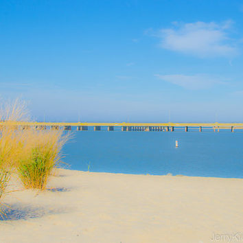 Stinky Beach, 8x12 Photograph, Ocean City, Maryland, Abstract, Landscape, Beach, Fine Art. Photography, Wall Art, Home Decor