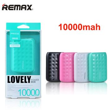 REMAX Mini Power Bank 10000 mAh LED Portable Powerbank External Mobile Phones Battery Charger Backup bateria externa Universal