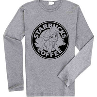 Starbuck Ariel Little Mermaid for Long Sleeved Mens and Long Sleeved Girls T Shirt