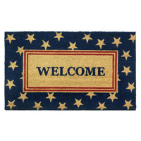 Patriotic Red and Blue White Stars Doormat Rug Welcome Mat