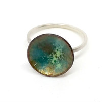 Enamel Stacking Ring Silver stacking Ring Torch Fired Jewellery