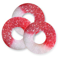 Cherry Red & White Gummy Rings: 4.5LB Bag