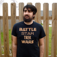 Battle Star Trek Wars Bleached T-shirt