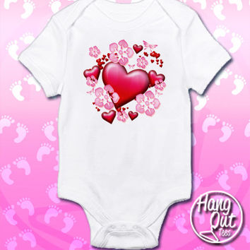 Hearts Onesuit/Toddler T-Shirt
