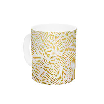 "Pom Graphic Design ""Inca Day & Night"" Gold Black Ceramic Coffee Mug"