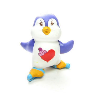 Cozy Heart Penguin Vintage Care Bears Cousin PVC Miniature Figurine Skating Figure Eights
