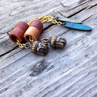 Magnetic Buddha Dangle Chain Tunnels-Size 0g(8mm) Wood Ear Gauges and Tunnels/Stretchers/ Tunnels/Expanders