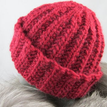 Hand Knit Wool and Alpaca Hat
