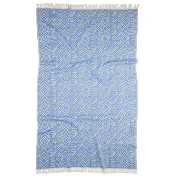 Turkish-T - Argyle Beach Towel | Blue