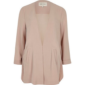 Pink frill back duster jacket
