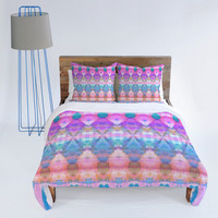 DENY Designs Home Accessories | Amy Sia Tribal Diamonds Pastel Pink Duvet Cover
