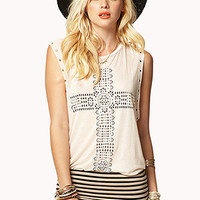 Bohemian Cross Muscle Tee