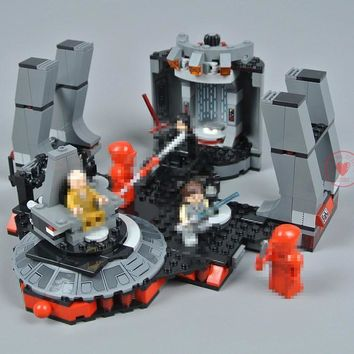 Star Wars Force Episode 1 2 3 4 5 New  fighter Series Snoke`s Throne Room fit legoings  figures city Building Blocks Bricks Toy 75216 kid diy Gifts AT_72_6