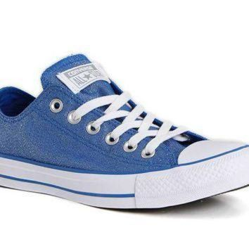 DCCK1IN converse chuck taylor all star glitter shoes in blue 555820f