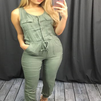 Army Olive Jumpsuit