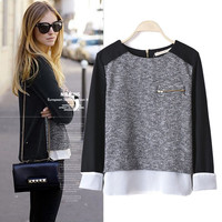 Long Sleeve Pullover Knit Sweaters
