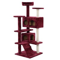 New Cat Tree Tower Condo Furniture Scratch Post Kitty Pet House Play Wine