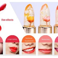 Kailijumei Make Up Jelly Lipstick Magic Color Temperature Change Moisturizer Bright Surplus Lip Balm Flower Lipstick