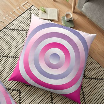 'Pastel Blue Pink Circles Pattern' Floor Pillow by MarkUK97